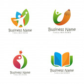 Kids Education logo and icon design