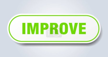 Illustration for Improve sign. improve rounded green sticker. improve - Royalty Free Image