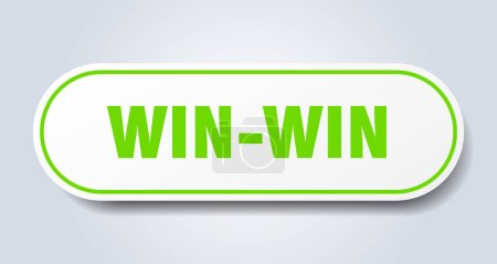 Illustration for Win-win sign. win-win rounded green sticker. win-win - Royalty Free Image