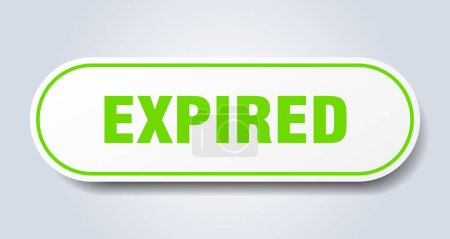 Illustration for Expired sign. expired rounded green sticker. expired - Royalty Free Image