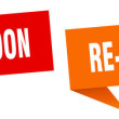 Re-opening soon banner sign. re-opening soon speec...