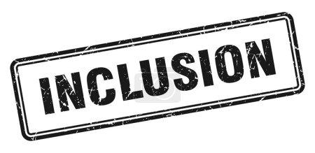 Photo pour Timbre d'inclusion. signe grunge carré isolé sur fond blanc - image libre de droit