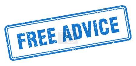 Photo pour Conseil gratuit timbre. signe grunge carré isolé sur fond blanc - image libre de droit