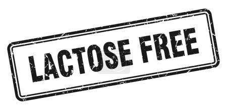 Photo pour Timbre sans lactose. signe grunge carré isolé sur fond blanc - image libre de droit