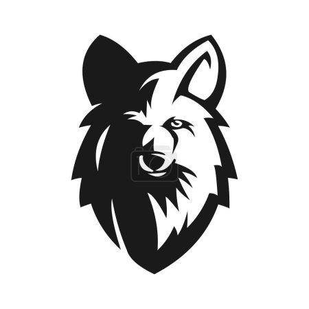 illustration vectorielle de mascotte de wolf head e sport design étonnant pour votre entreprise ou marque