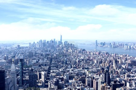 Photo for Aerial view of manhattan cityscape, New York City, USA - Royalty Free Image