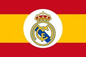 Club Real emblem on the Spain Flag
