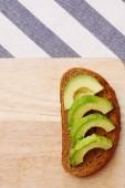 """Постер, картина, фотообои """"Здоровый обед вид сверху авокадо бутерброды завтрак концепция"""""""