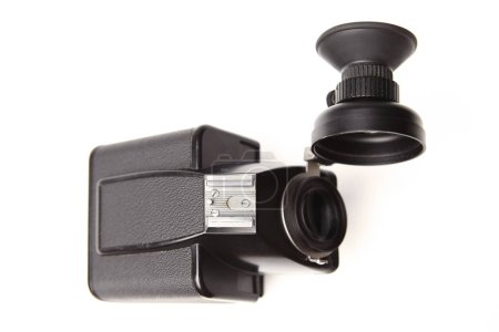 Photo for Used older retro camera viewfinder with loupe for slr film camera 6x6 - Royalty Free Image
