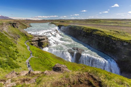 Photo for Scenic view Gullfoss waterfall, Iceland - Royalty Free Image