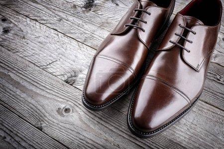 Classique formelle marron mans fait main chaussures de mode en cuir