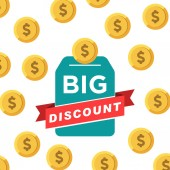 big discount vector design template
