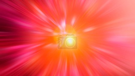 Radial blurred abstract color background light colors red, pink,