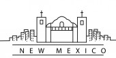 New Mexico city line icon Element of USA states illustration icons Signs symbols can be used for web logo mobile app UI UX