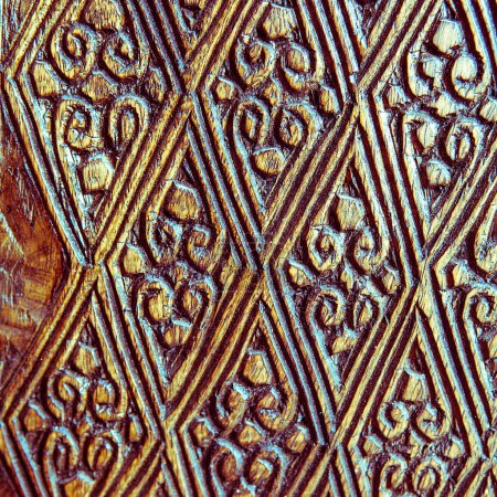Photo for Wood carved ornament, background for desygn and wallpaper - Royalty Free Image