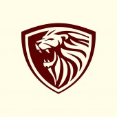lion shield vector design 01- The lion is a muscular deep-chested cat with a short rounded head a reduced neck and round ears Its fur varies in colour from light buff to silvery grey yellowish red and dark brown
