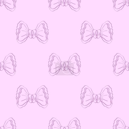 Illustration for Seamless pattern with hand drawn bows. Abstract background. Can be used for textile and coth design, wrapping paper, poster, banner, web. - Royalty Free Image