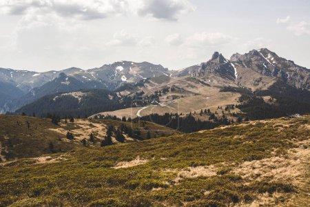 Photo pour Paysage avec vue montagnes, nature avec ciel - image libre de droit