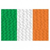 Polygonal flag of Ireland national symbol background low poly style vector illustration eps