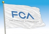 Flag symbol FCA industries editorial
