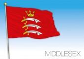 Middlesex flag United Kingdom vector illustration