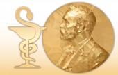 Nobel Chemistry award gold polygonal medal and chemical symbol
