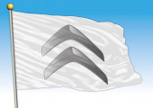 Citroen car industrial group flag with logo illustration
