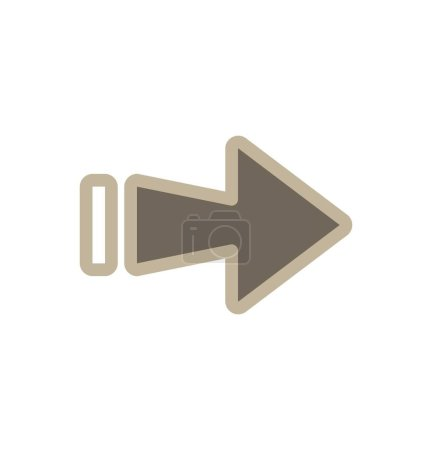 Illustration for Right Direction Arrow Icon For Your Project - Royalty Free Image