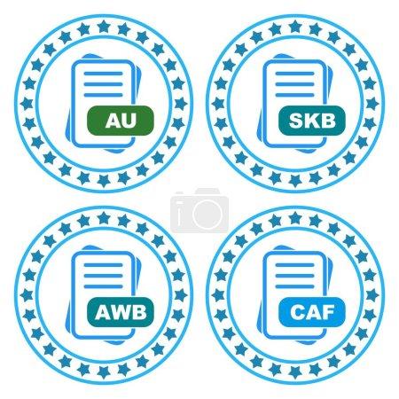 Illustration pour Jeu d'icônes Format de fichier pour application web et mobile, illustration vectorielle - image libre de droit