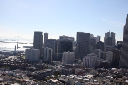 Photo for Urban view of the city with blue sky - Royalty Free Image