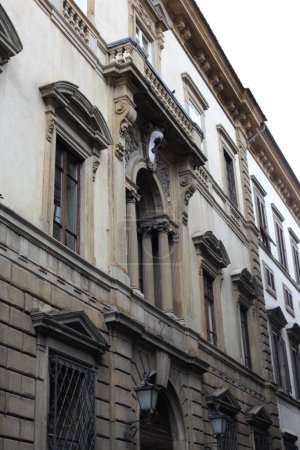 Photo for Facade of historic building on street in venice, italy - Royalty Free Image