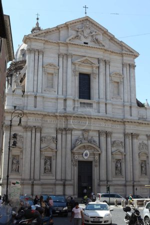 Photo for Facade details of church in Rome, Italy - Royalty Free Image