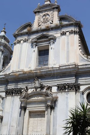Photo for Facade details of church in Napoli, Italy - Royalty Free Image