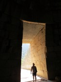 Europe, Greece, Mycenae, entrance to the tomb of Agamemnon.It seems that this building was built by mythical Cyclops.