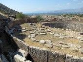 Europe, Greece, Mycenae, a close look at the ancient stones of the cradle of civilization