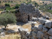Europe, Greece, Mycenae, ancient ruins do not spare time,the old stones are gradually erased