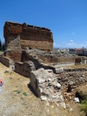 Europe, Greece, Argos, the remains of an ancient building near the amphitheater