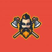 Viking Concept illustration vector Design template
