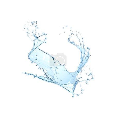 Photo pour Water splash isolated on white background. - image libre de droit