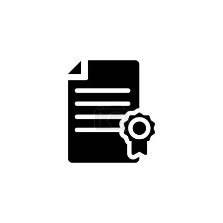 certificate file paper document with badge achievement icon. vector illustration