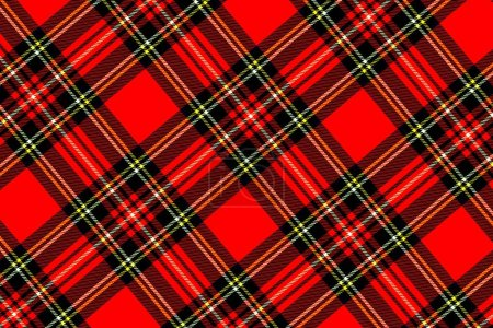 Photo pour Christmas and new year tartan plaid. Scottish pattern in black, red and white cage. - image libre de droit