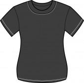 Women Black T-shirt
