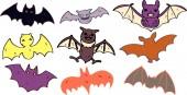 Halloween Illustration of Bat set