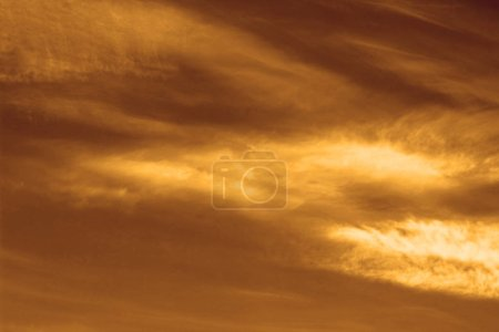 Photo for Orange sky with clouds - Royalty Free Image