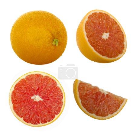 Photo pour Plan rapproché de l'orange rouge, fond de nourriture - image libre de droit