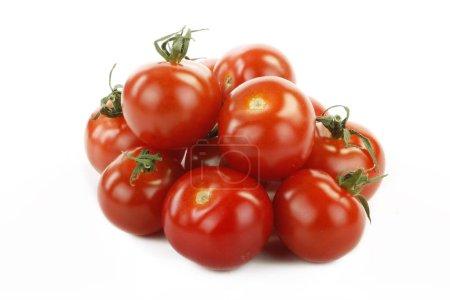 Photo for Fresh ripe tomatoes isolated on white background - Royalty Free Image