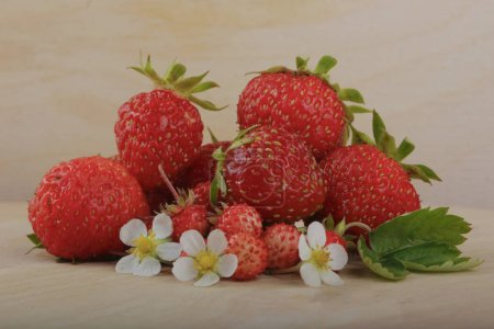 Photo for Red ripe strawberries, fresh berries. - Royalty Free Image