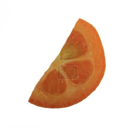 Photo for Exotic fresh kumquat fruit isolated on white background - Royalty Free Image