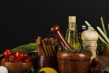 Photo for Variety of spices for tasty cooking - Royalty Free Image