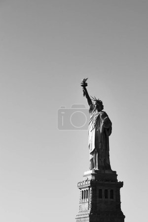 Photo for NEW YORK, USA - OCTOBER 30, 2018: View from boat tour around Manhattan and Liberty Island - Royalty Free Image